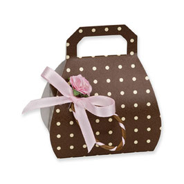Handtaschen Schachtel Dots braun