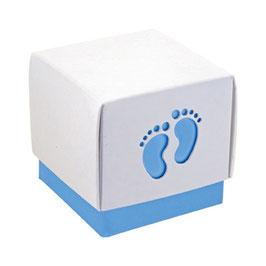 Geschenkschachtel Babyfüsse blau