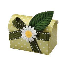 Truhen Geschenkschachtel Dots grün, 10 Stück
