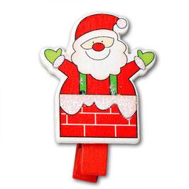 """4 Weihnachts-Holzklammern """"Nikolaus"""""""