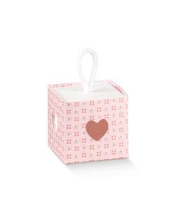 Geschenkbox Würfel Bloom Rosa - 5x5x5 cm