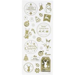 Sticker Weihnachten gold