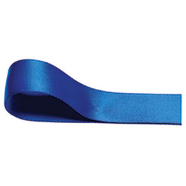 Satinband royal blue, 6 mm - 25 Meter