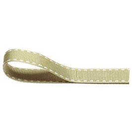 Ripsband salbeigrün mit weißer Ziernaht - 10 Meter