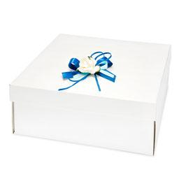 Große Geschenkschachtel Quadrat mit Deckel weiß