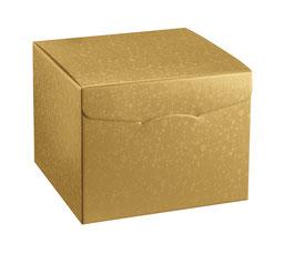 Geschenkbox Palermo 200 Würfel gold - 20x20x18 cm