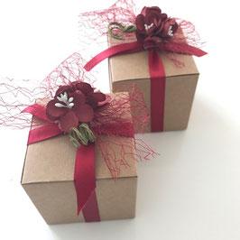 Würfel Geschenkschachtel Kraftkarton 8x8 cm, 10 Stück