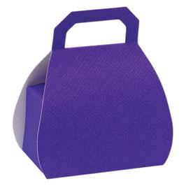 Handtaschen Geschenkschachtel lila 10 St.- 6,5x4x8 cm