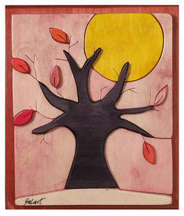 Come d'autunno sugli alberi le foglie   17x20cm