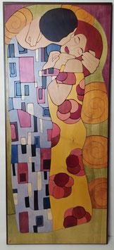 Pensando a Klimt- Il Bacio 50x120cm