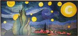 Pensando a Van Gogh Notte stellata 60x130cm
