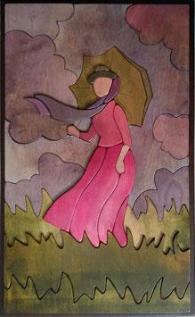 Monet~ Dama con l'ombrello 30x50cm