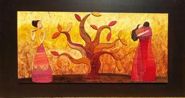 Omaggio a Klimt Albero della vita 50x120cm