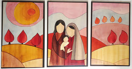 Sacra famiglia 30x50cm (3 pezzi)