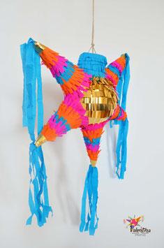 Boho-Chic mini Stern-Piñata mit 5 Spitzen