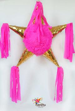Gold/Pink Stern-Piñata mit 5 Spitzen