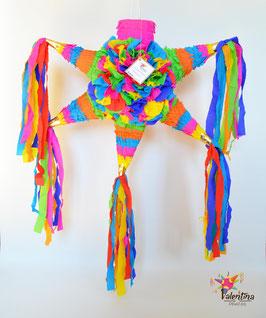 Bunte blumige Stern-Piñata