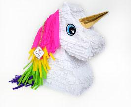 Einhorn Kopf-Piñata in bunte Farben