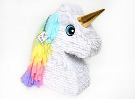 Einhorn Kopf-Piñata in Pastellfarben