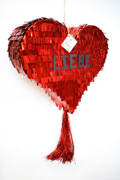Fancy Heart-Piñata in Metallic Rot