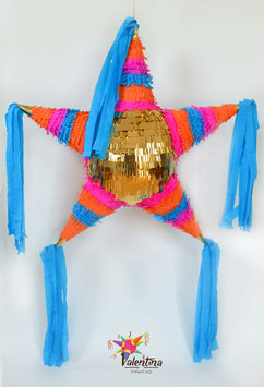 Boho-Chic Stern-Piñata mit 5 Spitzen