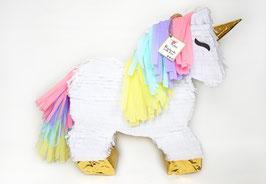 Einhorn-Piñata in Pastellfarben