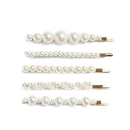 Perlen Haarspangen 5er-Set