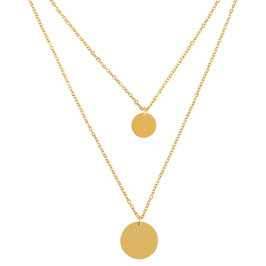 "Necklace ""Double Coin"""