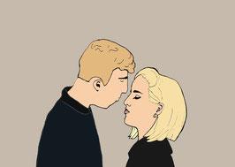 "Postkarte ""KISS"""