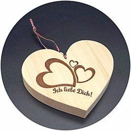 """Holz Herz """"Ich Liebe Dich, 3Herzen"""" Kategorie: Liebe 13x11cm"""