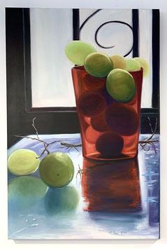 El vaso de uvas