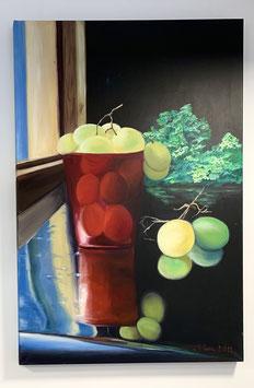 El vaso de uvas con escarola