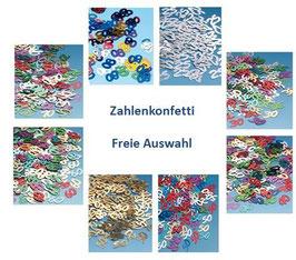 Zahlenkonfetti Freie Auswahl Tischdeko Partydekoration Geburtstag