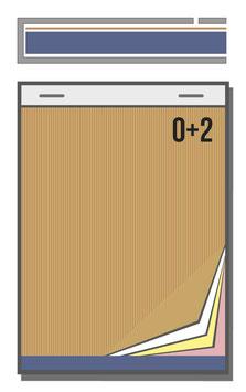 Talonario A6. O+ 2 Copias 1 tinta SIN numerar
