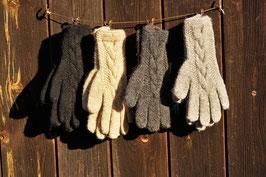Premium Handschuh Zopfmuster | extrawarm