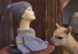 Mütze Carlotta mit Bommel | Unisex für Sie und Ihn
