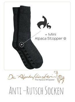 Stopper- Socken mit Alpaka Gummi-Noppen