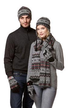 Unisex Mütze, Schal, Handschuh im Norweger Stil als Set oder Separat