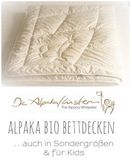 Premium Alpaka Bio Steppbett | Ganzjahres-Bettdecke oder Übergang