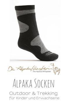 Alpaka Outdoor & Trekking Socken | 80% Naturfaser_ neu auch für Kinder