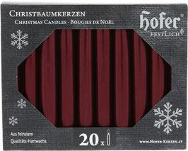 Tropffreie Weihnachtskerzen, metallic bordeaux