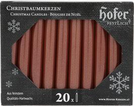 Tropffreie Weihnachtskerzen, metallic rosé