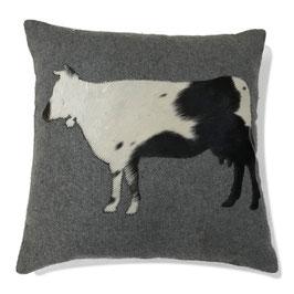 253 Kissen Wolle mit Kuh M.