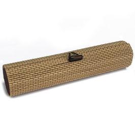 46 beige runde Bambusbox