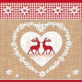 30 Ser. Rote Hirsche im Herz