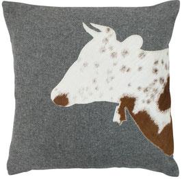 245 Kissen Wolle mit Kuh M.