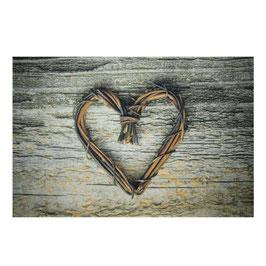 Allgäuer Holz Herz Fußmatte