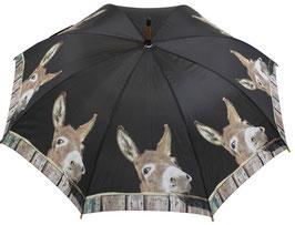 Regenschirm Esel