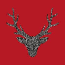 10 Ser. Hirschgeweih roter Gr.