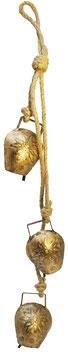3er Gold Glocke am Seil